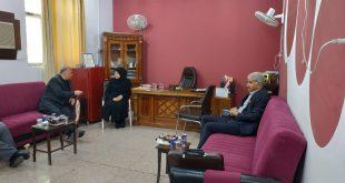 زيارة ودية لرئيس هيئة السياحة الى كلية الادارة والاقتصاد بجامعة الكوفة